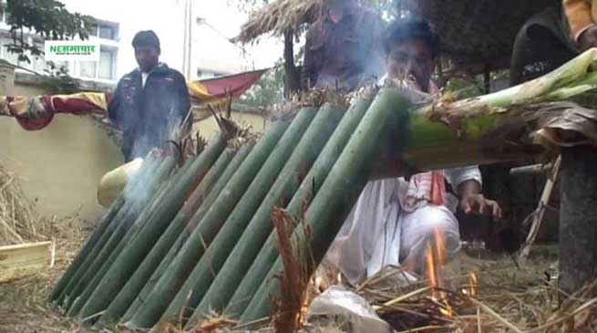 भोगाली बिहू का विशेष पकवान है सुंगा पीठा