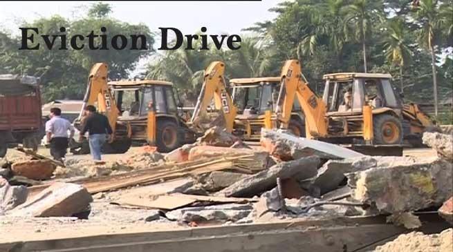 गुवाहाटी में अवैध निर्माण पर प्रशासन का हथौड़ा