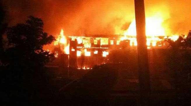 कोहिमा में भारी हिंसा, सरकारी कार्यालय फूंके गए