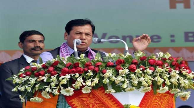असम को विदेशी व उग्रवाद मुक्त बनाना लक्ष्य