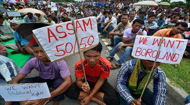 बोड़ोलैंड की मांग में अनिश्चितकालीन भूख हड़ताल