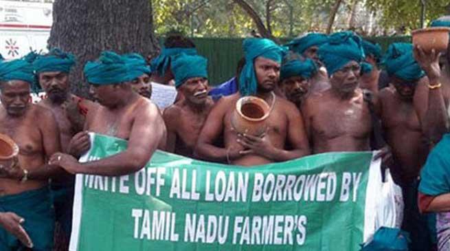 PMO के सामने किसानो ने कपड़े उतारकर किया विरोध प्रदर्शन