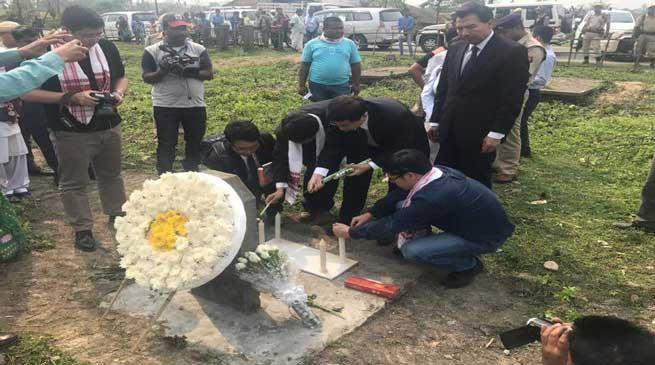 तिनसुकिया जिले में चीनी राजदूत के दौरे का विरोध