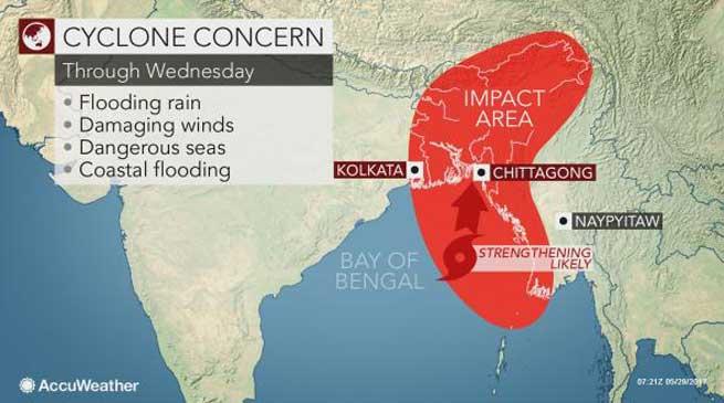 तूफान मोरा से पूर्वोत्तर राज्यों में भारी बारिश