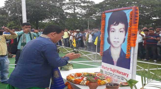आब्सू ने मनाया 30वां बोड़ोलैंड आंदोलन शहीद दिवस