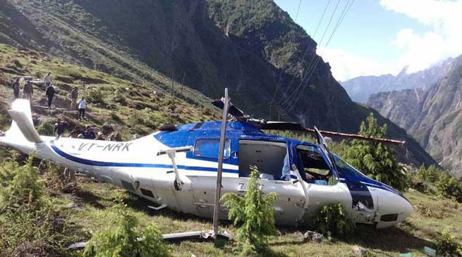 श्रद्धालुओं को बद्रीनाथ से हरिद्वार ले जा रहा हेलिकॉप्टर क्रैश