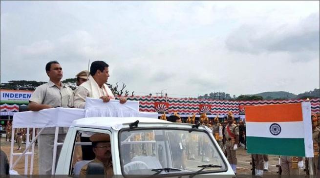 असम में मना 71वां स्वतंत्रता दिवस