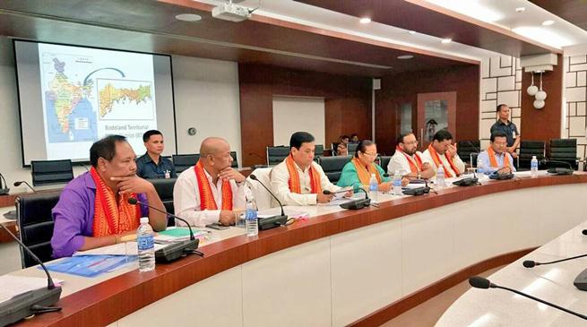 असम सरकार और बीटीसी प्रशासन के बीच बैठक
