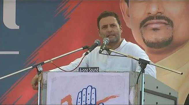 """गुजरात चुनाव; राहुल ने GST को कहा """"गब्बर सिंह टैक्स """""""