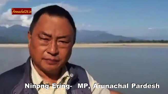 सियांग नदी पर जारी सांसद निनोंग इरिंग का विडियो हुआ वायरल