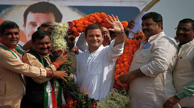 राहुल गांधी कांग्रेस पार्टी के नए अध्यक्ष चुने गए