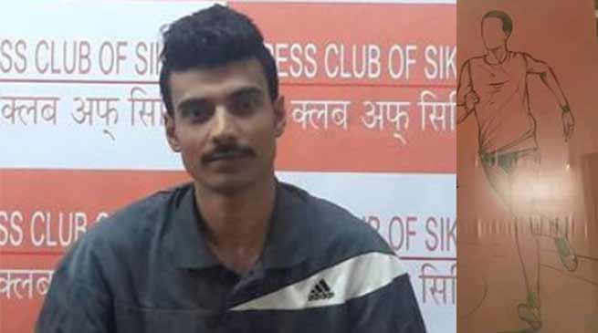 सिक्किम के अभिषेक लगाएंगे गंगटोक से दिल्ली तक मैराथन दौड़