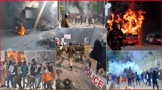 CAA को ले कर दिल्ली में हिंसा जारी,11 की मौत, 56 पुलिसकर्मी समेत 186 लोग घायल