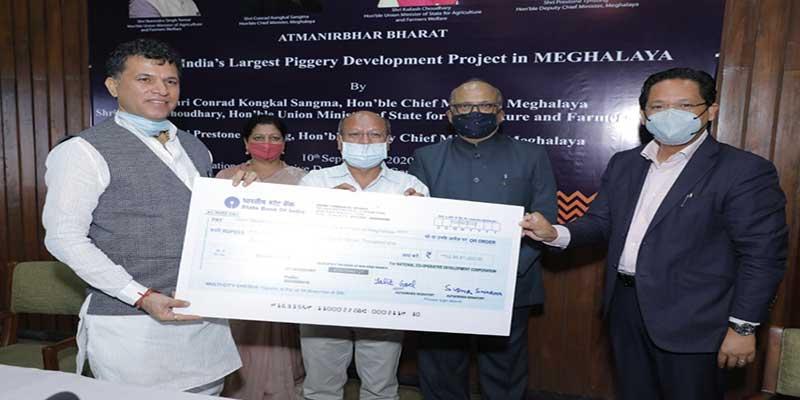 मेघालय में भारत की सबसे बड़ी सूअर पालन परियोजना का शुभारंभ
